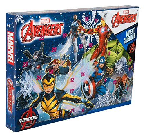 - Sambro AVE-6722 Advent Calendar Marvel Avengers with Stationery, Small Toys and Stickers, for Ages 3 and Above Multi-Coloured