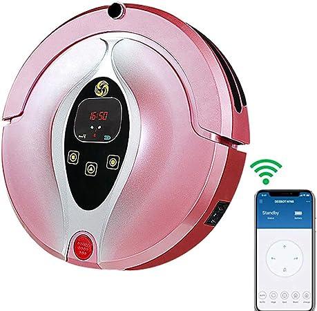 Robot Aspirador Gran Potencia de succión Control por Aplicación Robot De Barrido Smart para Automático para Hogar Barredor Alfombras Finas Pelo De Mascotas Y Todo Tipo De Suelos,Rosado: Amazon.es: Hogar