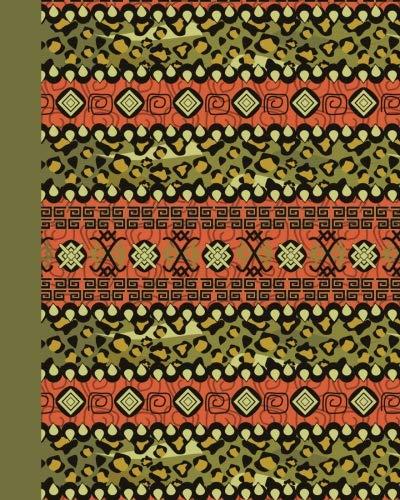 Sketchbook: Tribal Pattern (Green) 8x10 - BLANK JOURNAL NO LINES - unlined, unruled pages (8x10 Patterns & Designs Sketchbook Series)