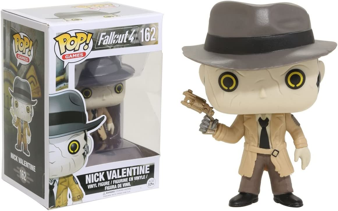 Nick Valentine Pop Fallout 4 FunKo Free Shipping! Vinyl Figure