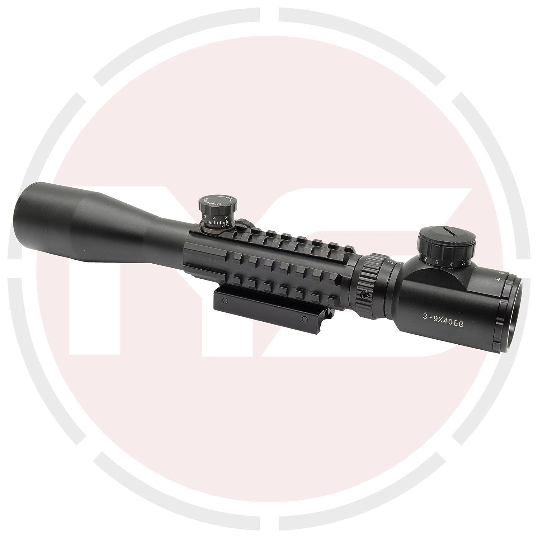 2694fdc6c2c SUS MONUMENTOS 3-9x40 Alcance del rifle con Táctico Rieles para COLA DE  MILANO Y TEJEDOR Rieles: Amazon.es: Deportes y aire libre