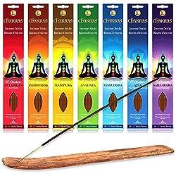 Chakras 100% Natural Hand Dipped Incense Sticks For Meditation, Yoga, Relaxation, Magic, Healing, Prayer & Rituals
