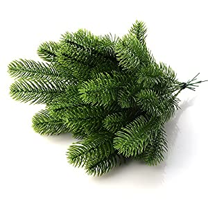 Nyalex 10Pcs Artificial Flower Fake Green Plants Pine Branches Christmas Tree For Christmas Party Decorations Xmas Tree Ornaments 2
