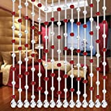 5 Strand of Cut Surface Beads Design, DIY Luxury Crystal Glass Bead Curtain Home Decor Decorations for Living Room Bedroom Windows Doorway Ornament Wedding Party Supply (D)