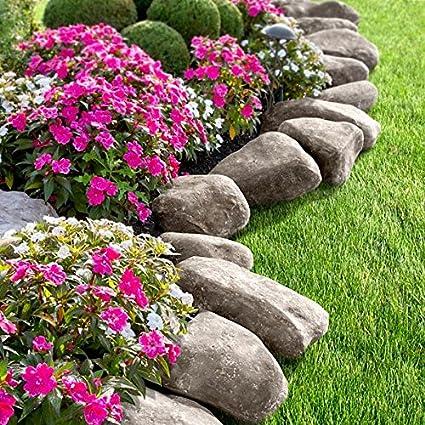 DermaPAD Faux Stone Landscape Edging - 10' Feet (Grey) - Amazon.com : DermaPAD Faux Stone Landscape Edging - 10' Feet (Grey