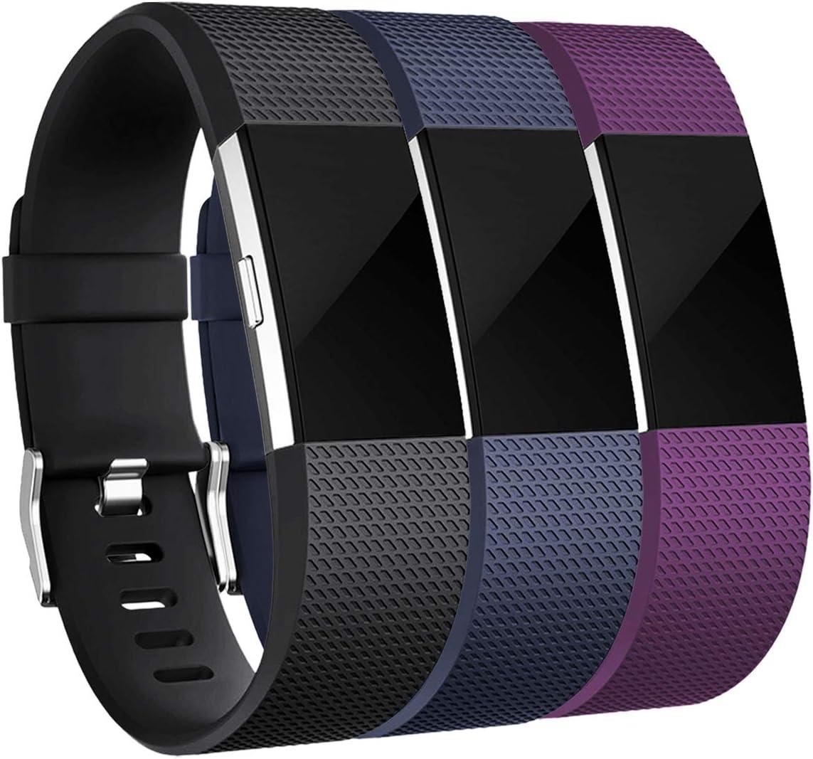 Mallas de reloj Fitbit Charge 2 (3 unidades) talle S