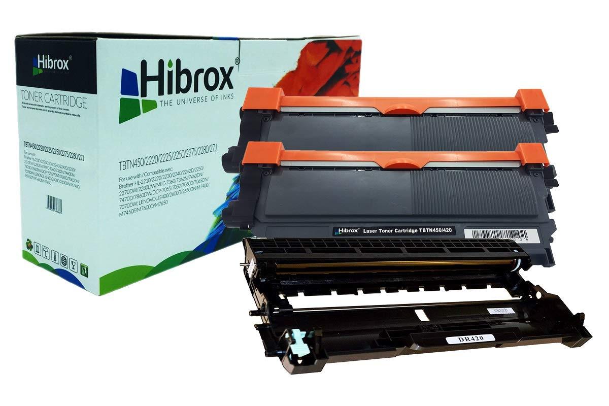 Hibrox de Toner Compatible Con Brother 2x TN2220 1x DR2220 DR2200 ...