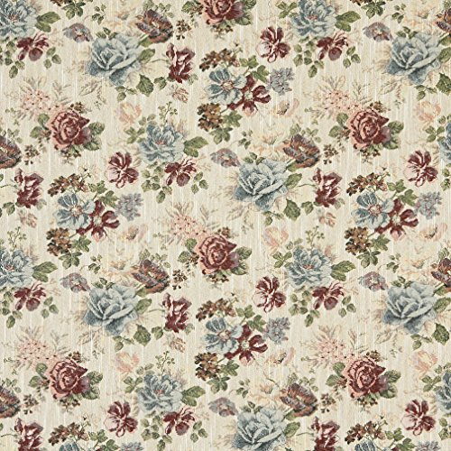 Used, Burgundy and Light Blue Cream Classic Floral Tapestry for sale  Delivered anywhere in USA