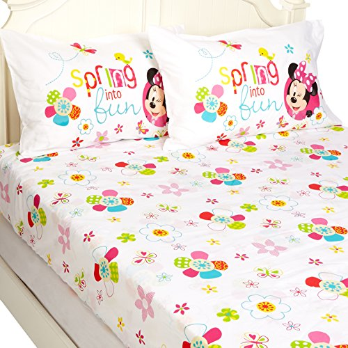 Disney Minnie Mouse Bowtique Garden Party 54'' x 75'' Full Sheet Set by Disney