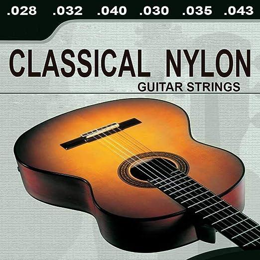OcioDual Lote De 6 Cuerdas para Guitarra Clásica Española Classical Nylon Música. ¡Envío gratis!