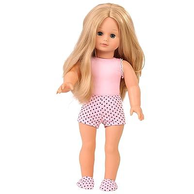 "Gotz Precious Day Jessica to Dress Blonde 18"" Doll with Blue Sleeping Eyes"