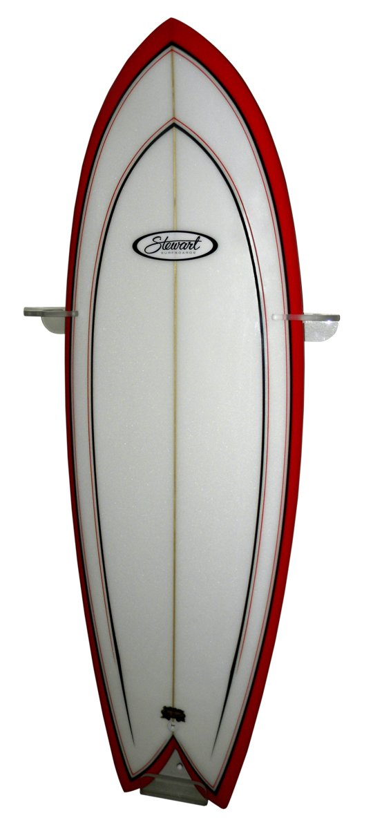 Clear Acrylic Surfboard Wall Rack Set Flush to Wall Vertical Style for Any Sized Board! Complete with Anti Ding Pads and All Hardware. Shrink Wrapped to Ensure The are Perfect. by OnTheWallRacks.com