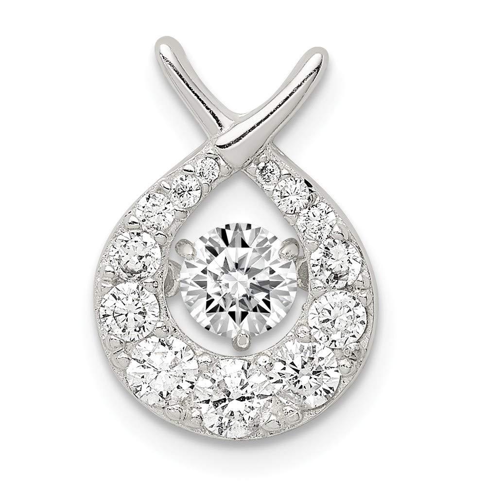 Sterling Silver Vibrant Cubic Zirconia Pendant