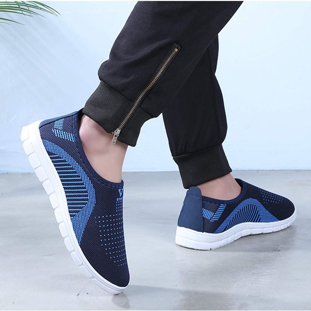 VonVonCo Men's Casual Slip-On Sport Shoes Sneaker Comfortable Footwears Loafers Shoes Blue by VonVonCo (Image #4)