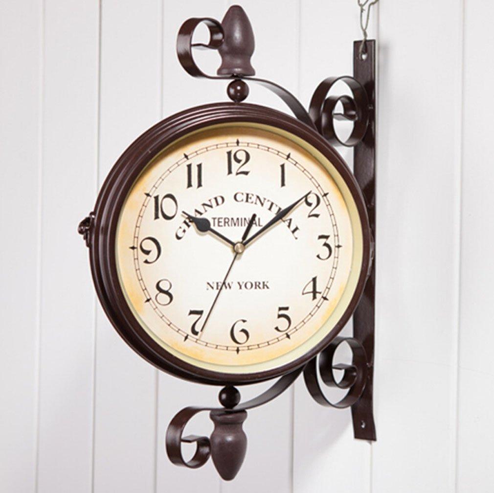 Relojes De Doble Cara Ailiebhaus Antiguo De Estilo Europeo Jard N  ~ Relojes Grandes De Pared Vintage