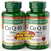 Nature's Bounty CoQ 200mg Twin Pack, 80 + 80 Rapid Release Softgels