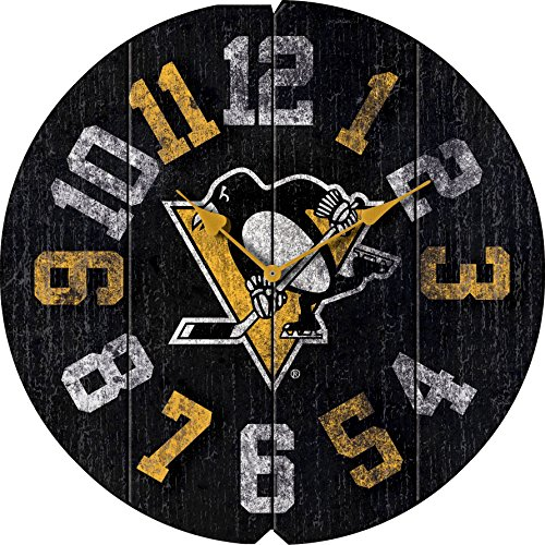 Imperial Officially Licensed NHL Merchandise: Vintage Round Clock, Pittsburgh Penguins (Pittsburgh Clock Penguins)