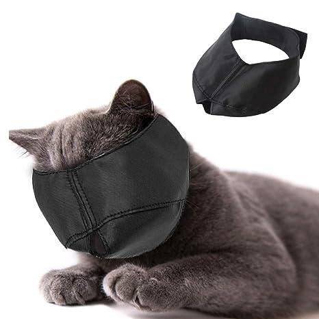 Beikal Bozal para Aseo de Gatos, máscara de Nailon para Gatos, Herramientas para el