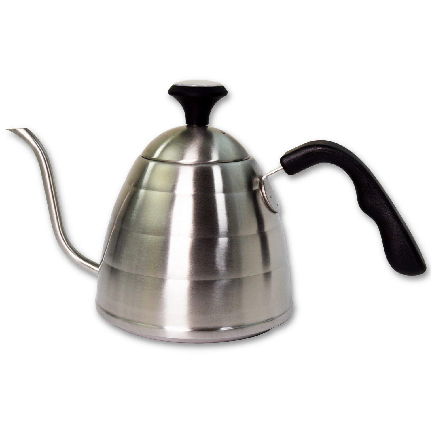 Coffee and Tea Pour Over Kettle with Thermometer 34 oz – Stovetop Long Spout Gooseneck Drip Kettle for Slow Pour Water – Heat Resistant Handle – Stainless Steel Brew Kettle for Making Coffee