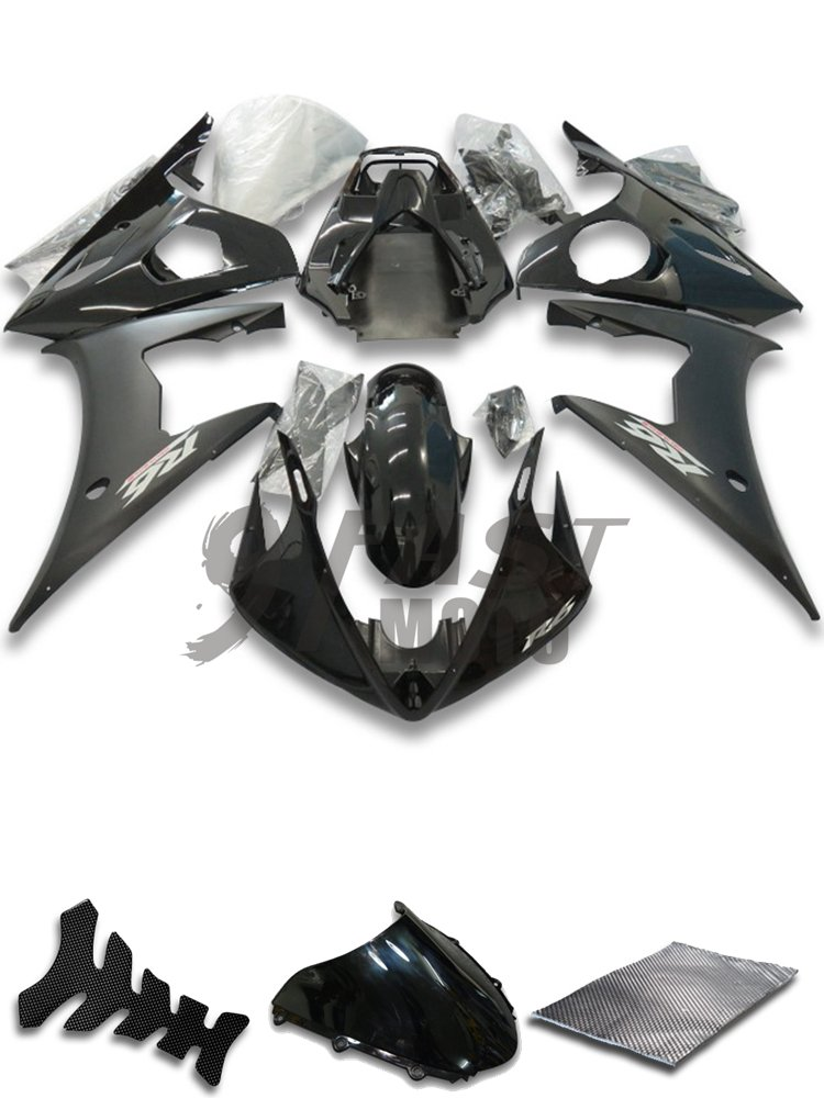 Y0914 Black /& Gray 9FastMoto Fairings for yamaha 2005 YZF-600 R6 05 YZF 600 R6 Motorcycle Fairing Kit ABS Injection Set Sportbike Cowls Panels
