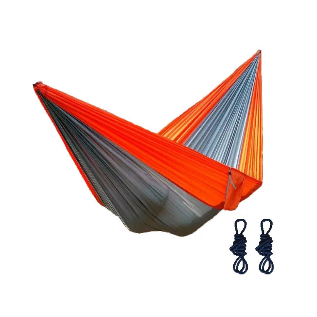 Trekker no1アウトドアレジャーポータブル軽量パラシュートナイロン生地旅行キャンプHammock B01LWUEJIE  Gray And Orange