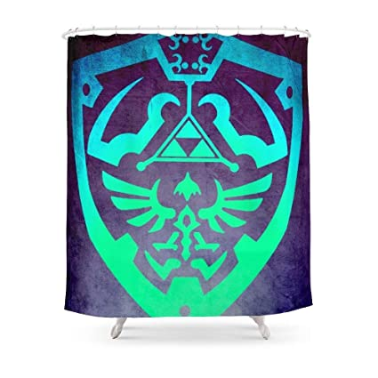 Amazon Sukuraceci Bathroom Zelda Shield Shower Curtain 72 By