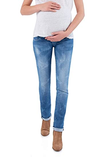 5c1b3378354dc Salsa Slim Leg Maternity Hope Jeans with Double Waistband: Amazon.co.uk:  Clothing
