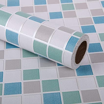 Mosaïque Autocollante Papier peint tuile Autocollants muraux cuisine salle de bain feuille d/'aluminium