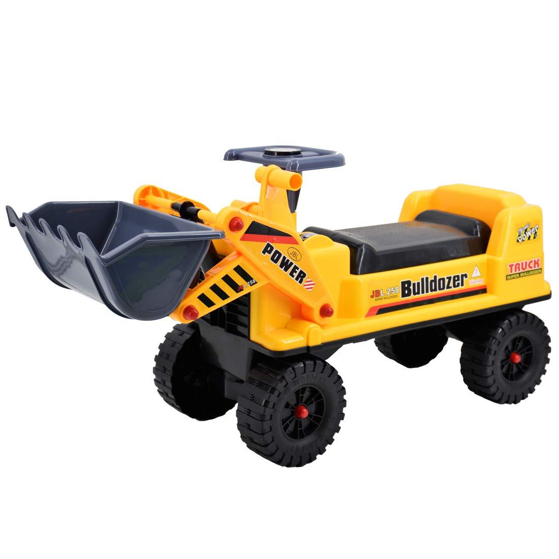 deAO Sitzbagger für Kinder-Toller Bagger-Spaẞ für Drauẞen mit Traktor BAGGER BBD-Y