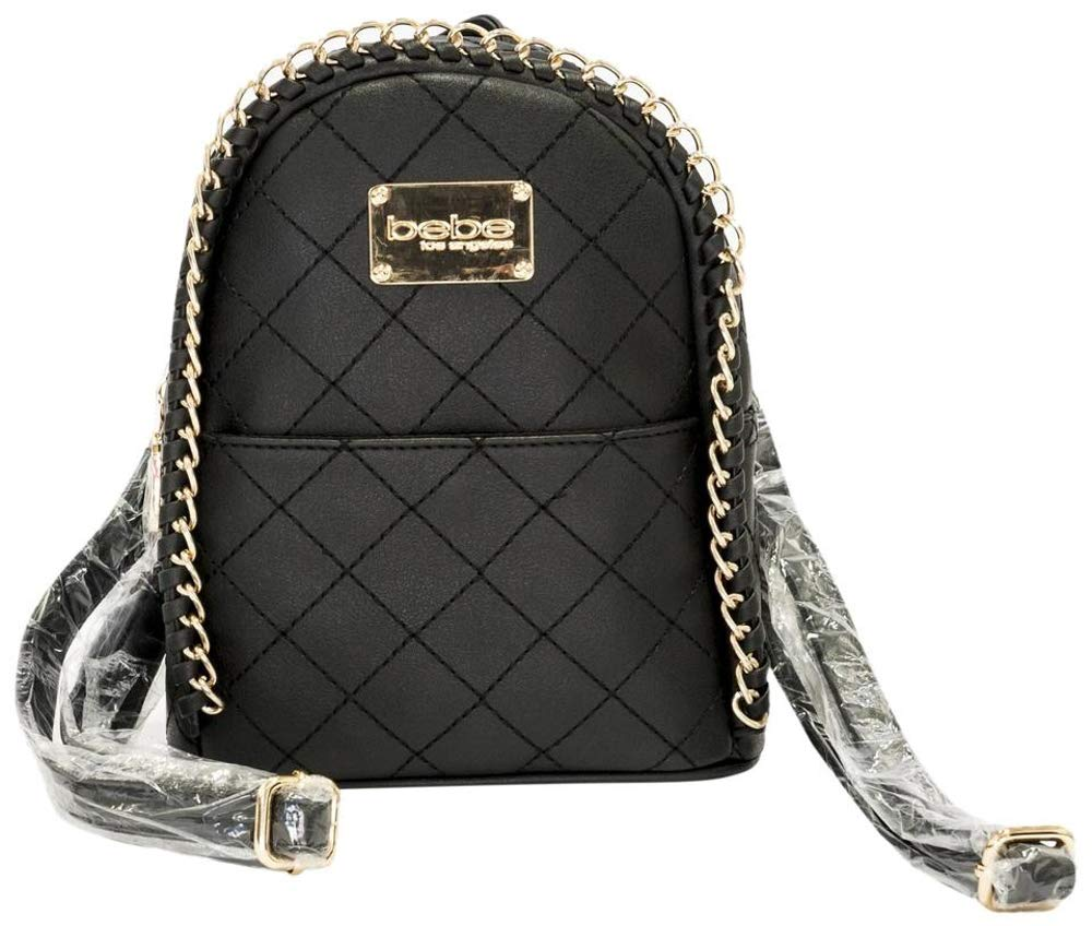 2d908f55ef8e Black Leather Backpack With Gold Chain - Restaurant Grotto Ticino ...