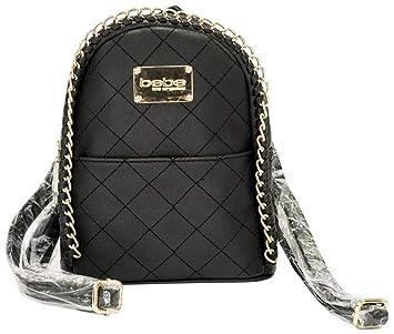 864d95efbc Amazon.com | Bebe Women's Julia Mini Faux Leather Backpack (Black) | Casual  Daypacks