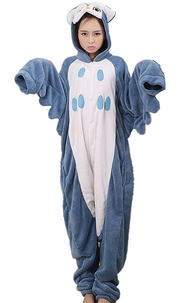 Búho animales Disfraz Kigurumi Pijama Ropa De Noche pijamas para adultos Halloween Pijama Onesie Jumpsuit Disfraces