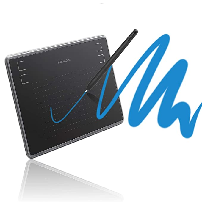 Amazon.com: Huion Inspiroy H430P Tablet Graphics Drawing Tablet Battery-Free Stylus with 4096 Levels and 4 Express Keys (Perfect for OSU!):