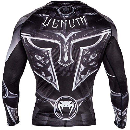 Venum Gladiator 3.0 Long Sleeve Rashguard - Black/White - S, Small