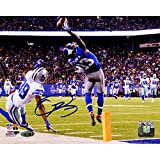 NFL New York Giants Odell Beckham Jr Signed One-Handed Touchdown Catch Photograph, 8'' x 10''