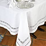 Verona Table Linens Napkins, White (1 Dozen)