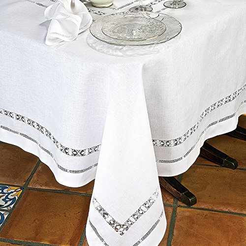 Verona Table Linens Napkins, White (1 Dozen) by Schweitzer Linen
