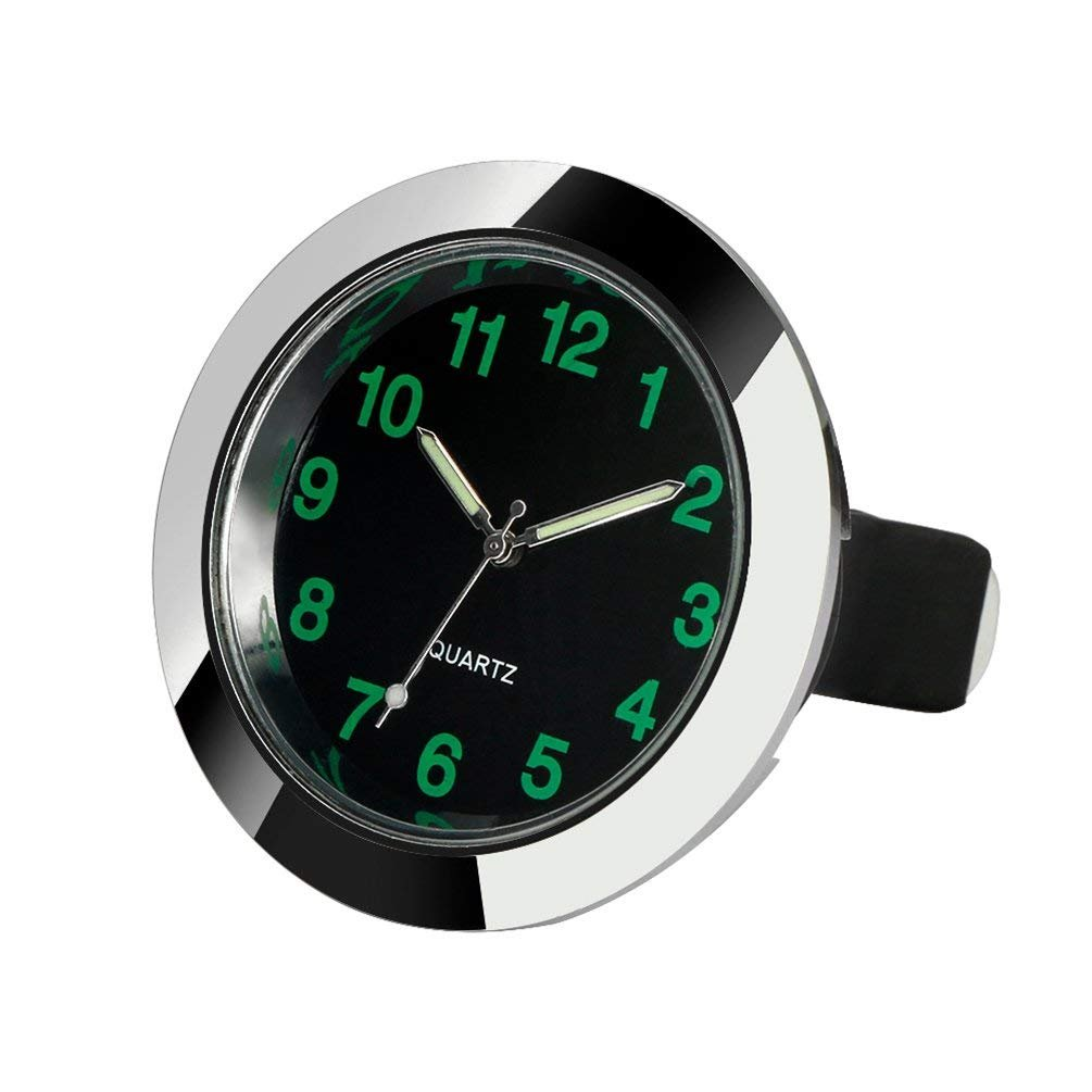 REACHS Car Dashboard Clock Cars Air Vent Quarz Clocks Mini, Perfect Decoration for Cars, SUV and MPV (Black)