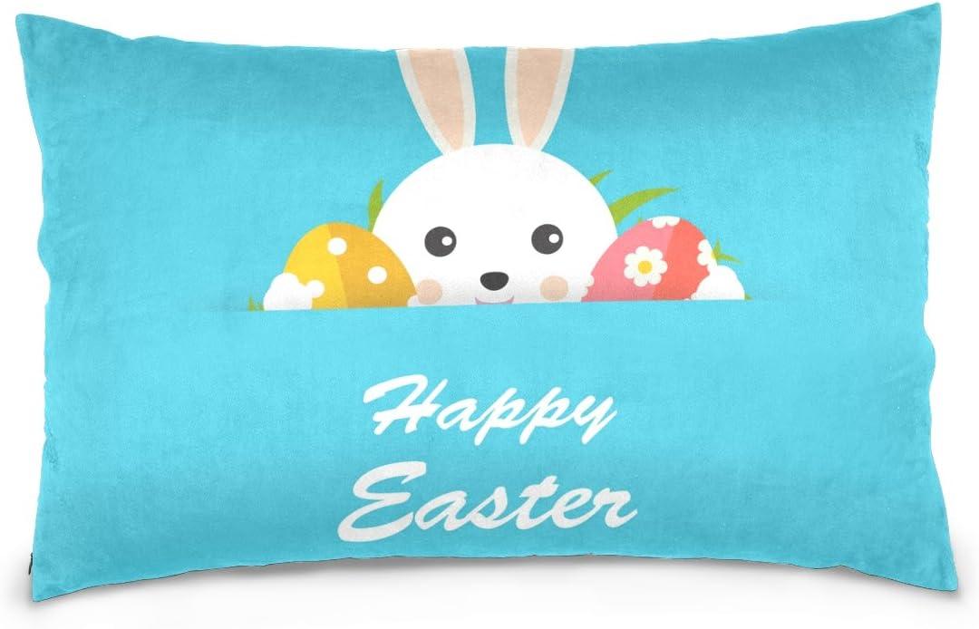 Amazon Com Top Carpenter Happy Easter Hiding Bunny Velvet Oblong Lumbar Plush Throw Pillow Cover Shams Cushion Case 16x24in Decorative Invisible Zipper Design For Couch Sofa Pillowcase Only Home Kitchen