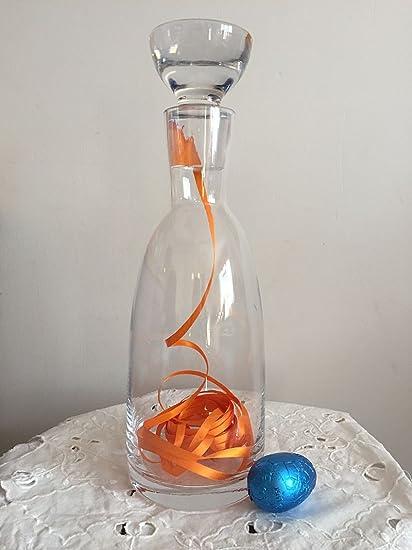 Diseño de monstruo comiendo decantador de vino de cristal hecho a mano 35 cm de alta