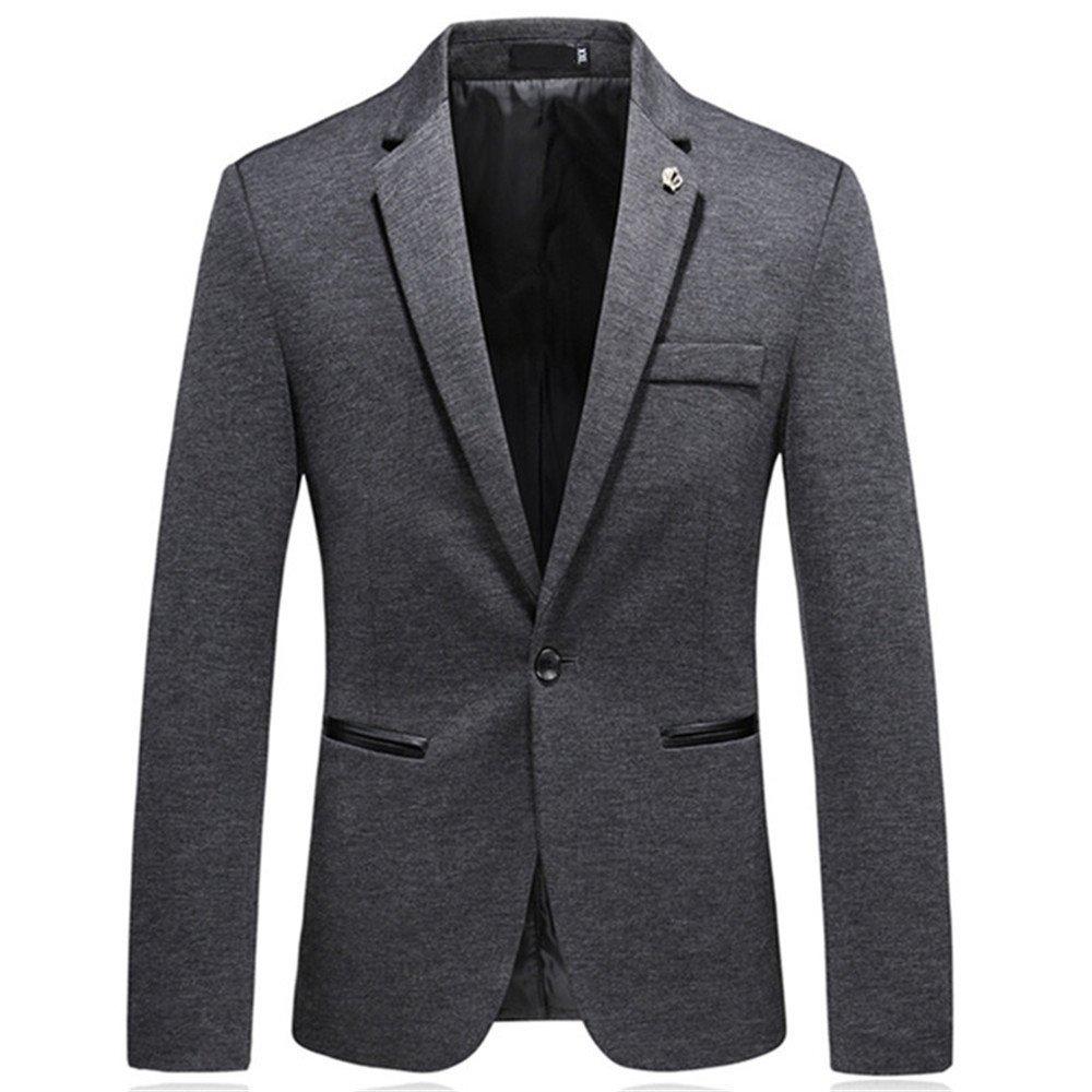 Sndofej männer im Anzug männer ist lässig, Aber auch Westen Mantel größe Freizeitanzug,Grau,XL
