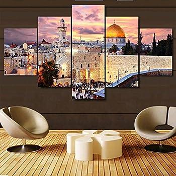Amazon.com: Mosque Modern Islamic Muslim wall art canvas prints art ...