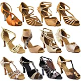 Gold Pigeon Shoes 50 Shades of TAN: 3030LEDSS:Dark Tan Satin:3'' Slim Heel:Size 8
