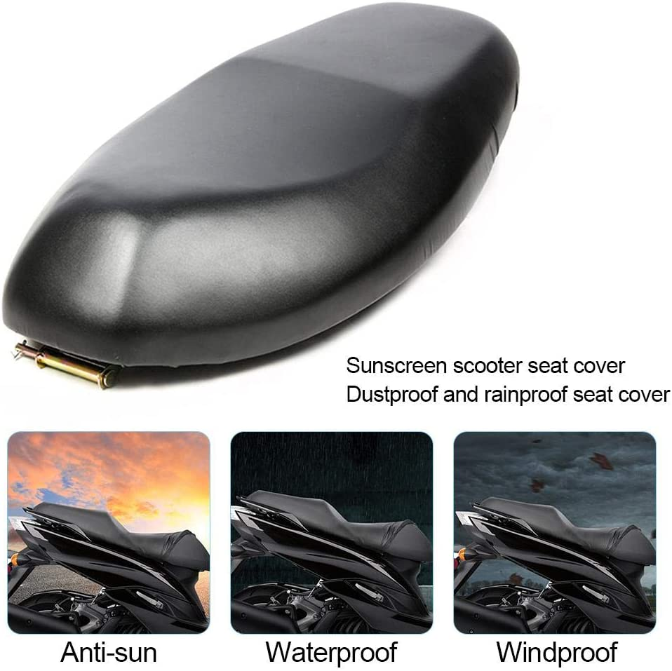 Three Size Generp Motorcycle Seat Cover Waterproof Scooter Seat Cover Universal Flexible Rainproof Dustproof UV Resistant Motorbike Motorcycle Cushion Protector Cover