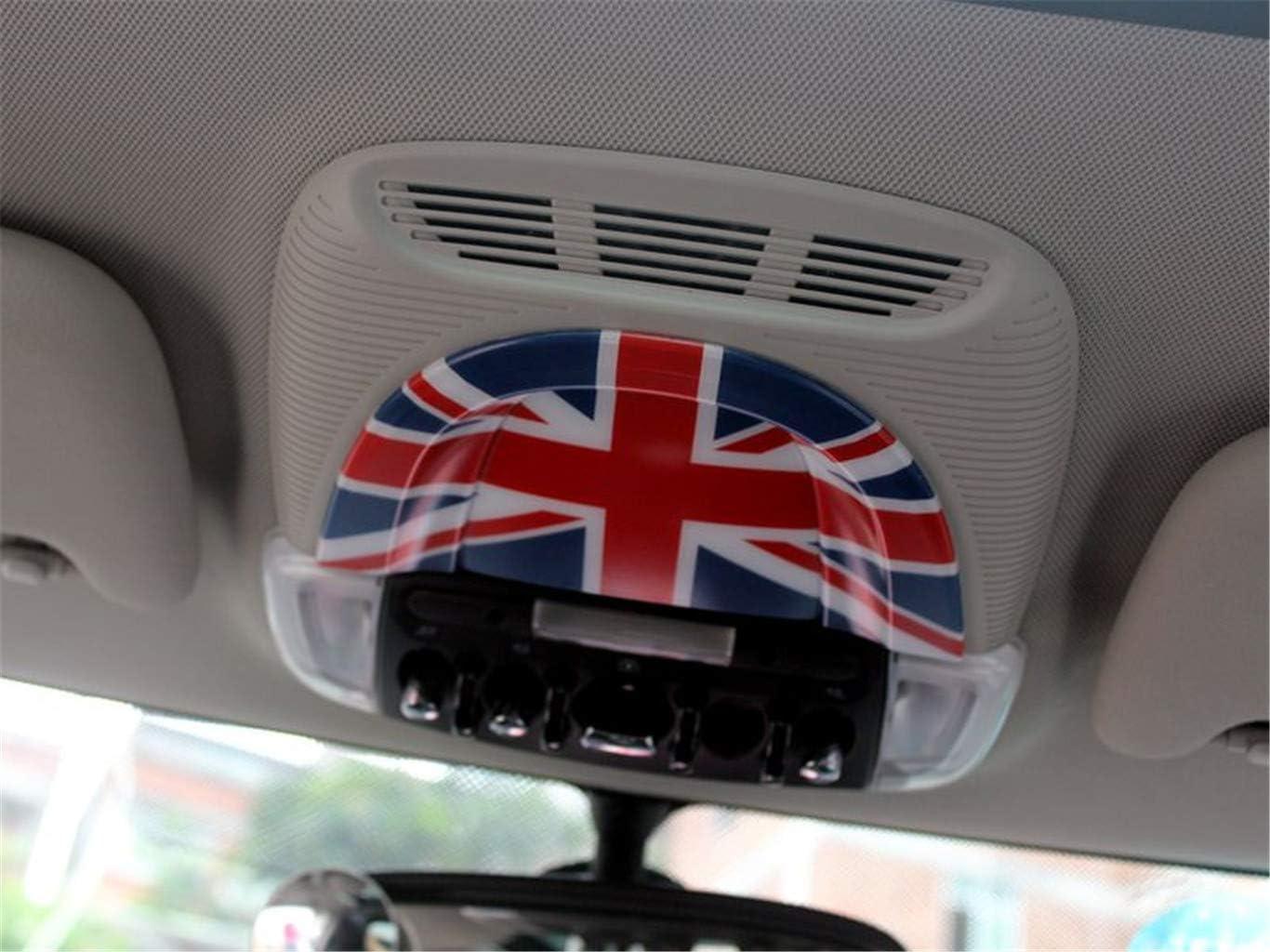 HDX Red//Blue Union Jack UK Flag ABS Sticker Cover Trim Cap for Mini Cooper ONE S JCW F Series F54 Clubman 2016+ Door Armrest Window Regulator Lift Frame