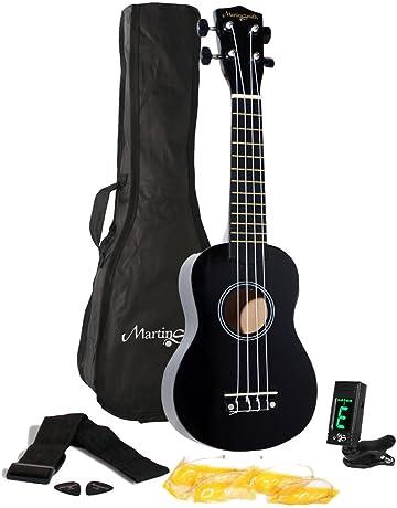 Martin Smith UK-312-BK - Kit de inicio de ukelele, color negro