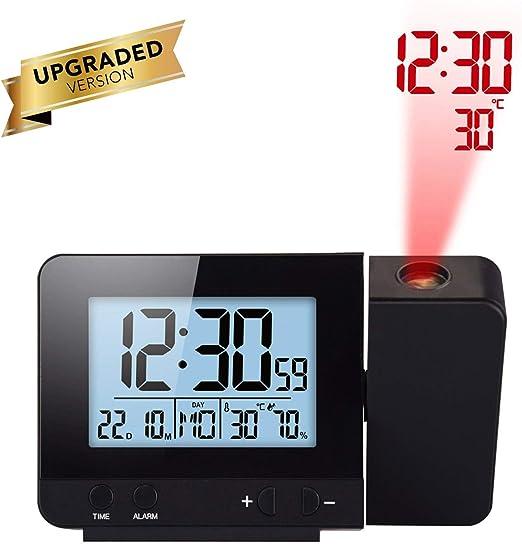 Vvciic Reloj Despertador de proyección, Reloj de proyección ...