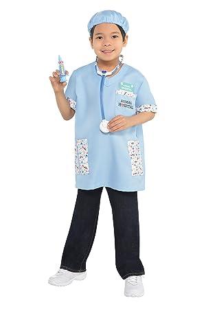 abd3f3c863 Vet Kit Kids Fancy Dress Animal Doctor Surgeon Uniform Boys Girls Childs  Costume