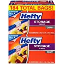 Hefty Slider Storage Bags (Quart, 184 Count)