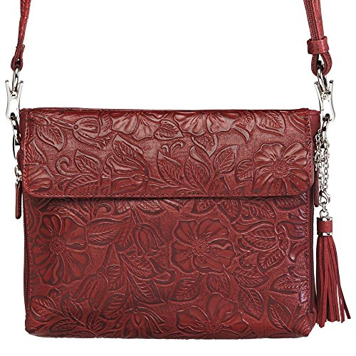 Carry Mamas Cherry Gun Purse Concealed Tooled Cowhide Leather Tote'n American gw5qRTpUn